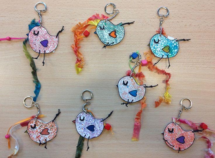 Porte clés en plastique fou - Fête des mères - Galerie - Forums-enseignants-du-primaire