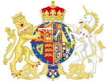 Arms for HRH Princess Alice, Duchess of Gloucester (born Lady Alice Christabel Montagu Douglas Scott, daughter of the 7th Duke of Buccleuch & Queensberry)