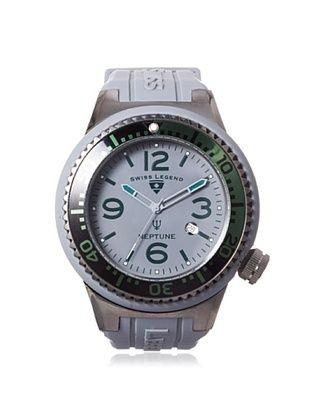 83% OFF Swiss Legend Men's 21818S-B-MB Neptune Grey Silicone Watch