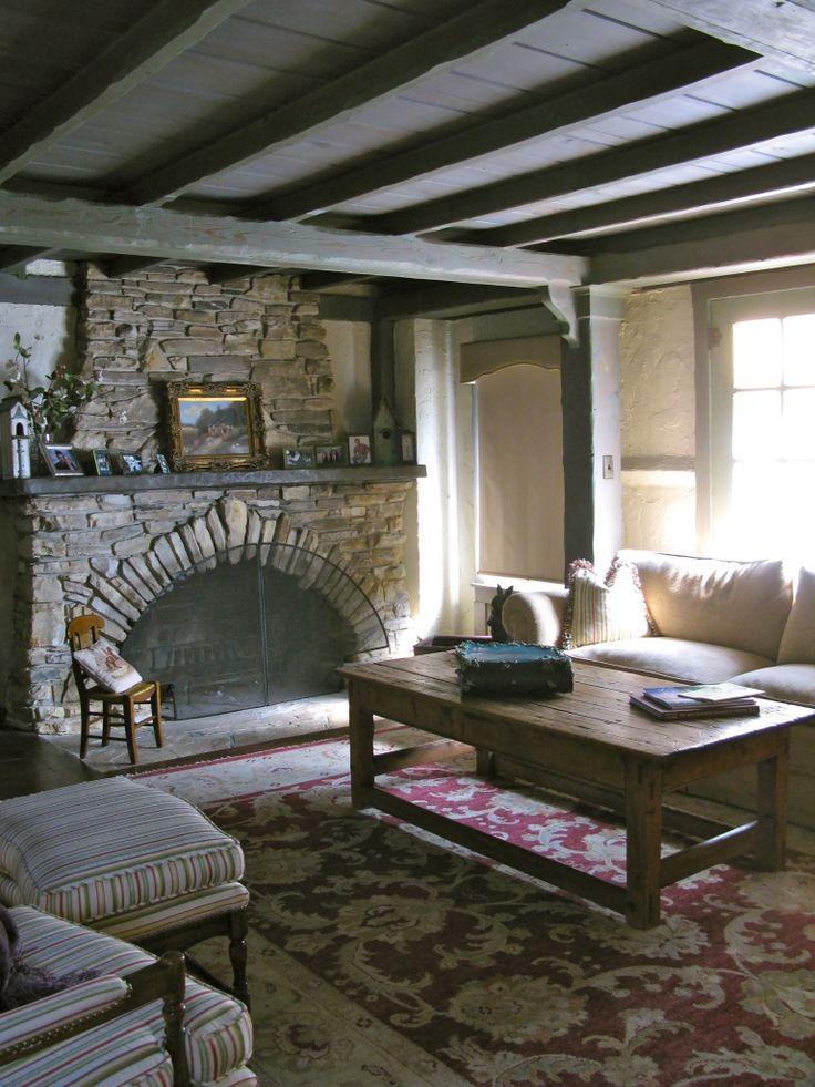 Interior Comstock House Carmel CA Low Ceiling Living