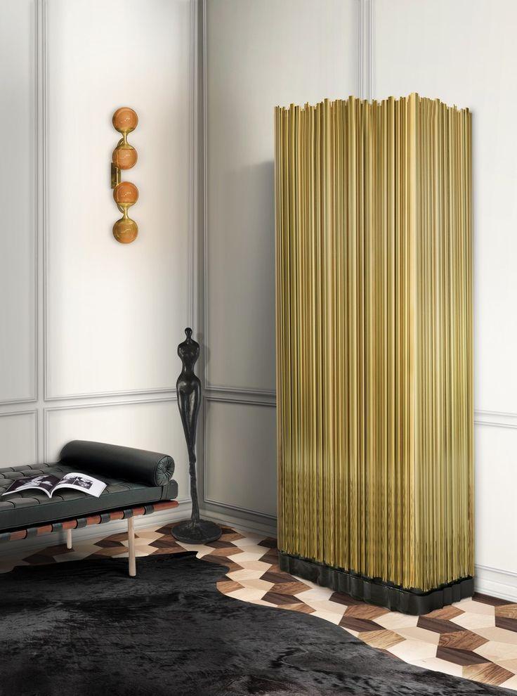 Top 7 Teure Weihnachtsgeschenke zu Haus Dekor | Gold Kabinet aus Röhren gemacht. Möbel aus Boca do Lobo. | http://wohn-designtrend.de/teure-weihnachtsgeschenke-haus-dekor/