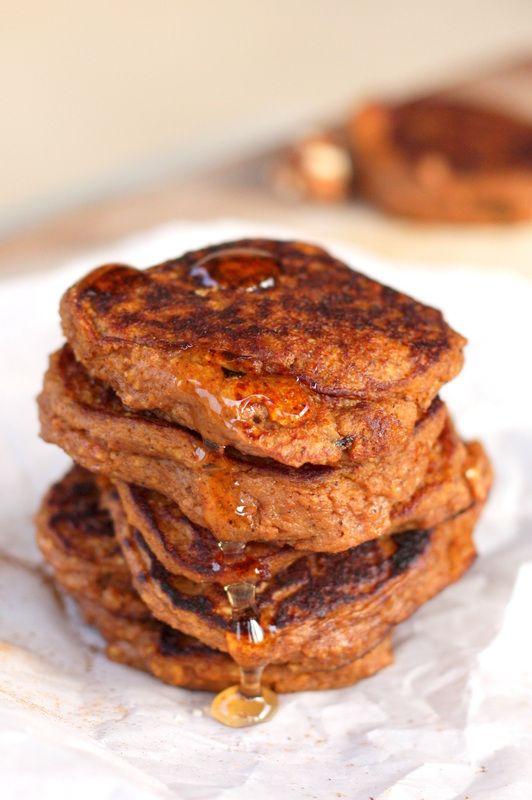 Pumpkin Spice Protein Pancakes (will substitute milk for almond milk ...
