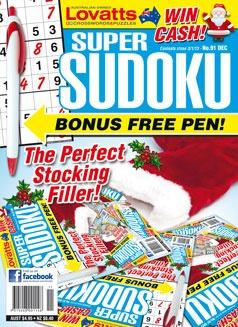 Super Sudoku 91 Christmas cover