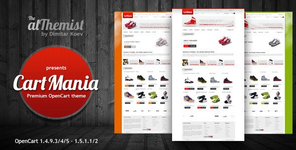 CartMania - The Ultimate OpenCart 1.4.9.3  template