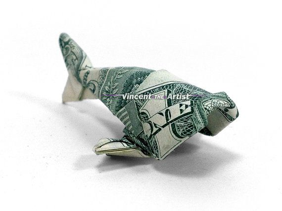 Baby fish dollar origami money dollar origami for Dollar bill origami fish
