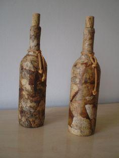 Reciclagem com garrafas de vinho - Adega do Vinho