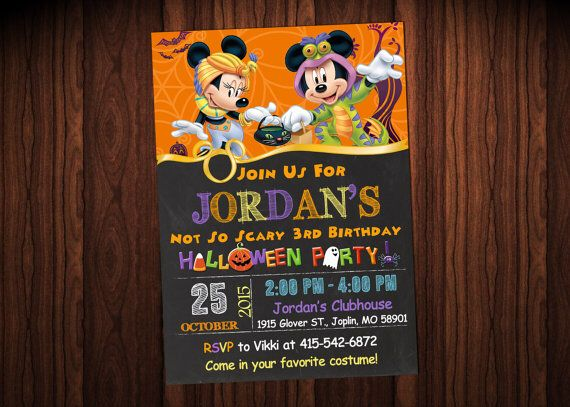 Mickey Mouse Halloween Invitations. For Avery's first birthday!