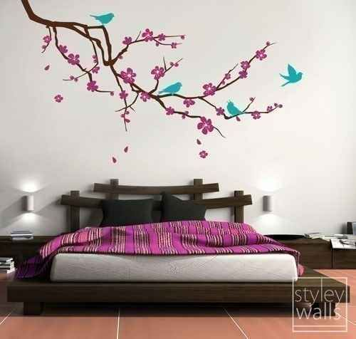 Add a tree branch decal for a spring feel.