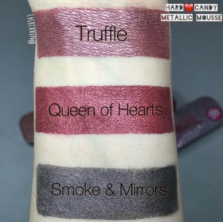 nikki6543: Hard Candy Metallic Mousse Matte Metallic Lip Color (All Seven!) & Mix-In Pigment Makeup Drops Swatches