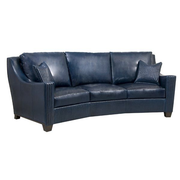 You 39 Ll Love The Ella Conversation Sofa At Perigold Great Deals On All Products With Free Shipping On Most Stuff Blue Leather Couch Sofa Conversation Sofa