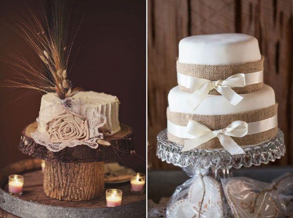 ... de mariage rustiques, Gâteaux de mariage country et Gâteau de toile