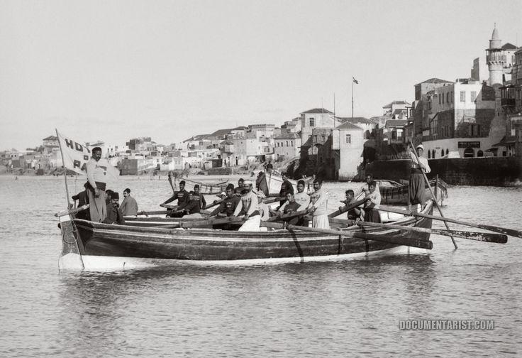 Jaffa boatmen. Jaffa, Palestine. 1900-1920