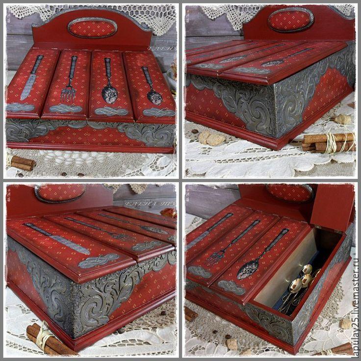 """Купить бюро,секретер,короб с имитацией чеканки """"Семейная реликвия"""" - темно красный, ящик для хранения"""