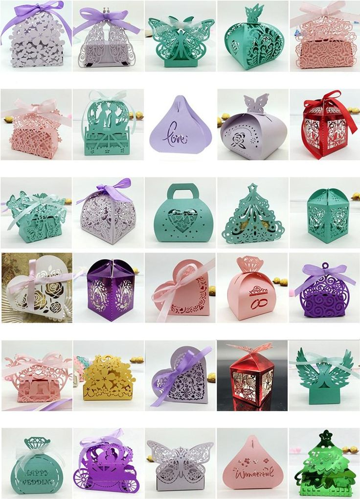 Multicolor Style Laser Cut Favor Boxes Wholesale Luxury Wedding Candy Boexs Hollow Flower Candy Box Party Favors Wedding Gift Bags Cheap  sc 1 st  Pinterest & 25+ cute Wedding candy boxes ideas on Pinterest   DIY wedding gift ... Aboutintivar.Com