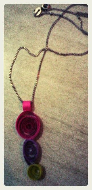 Hand made paper pendant by Quillicious.