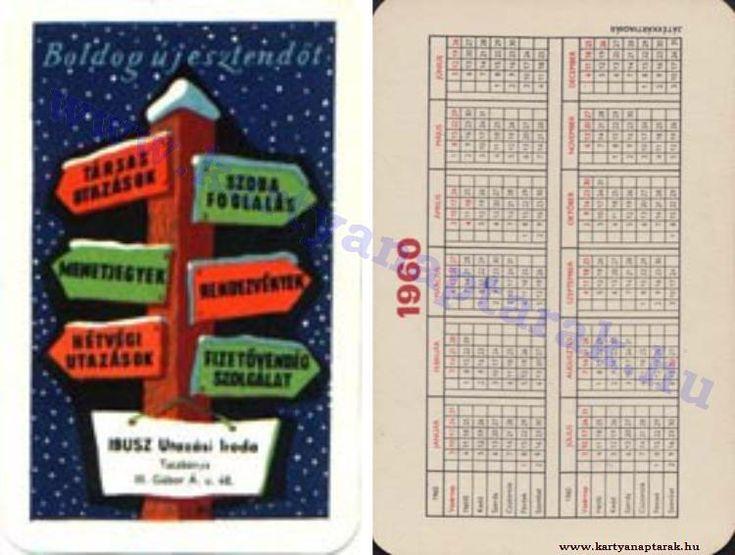 1960 - 1960_0097 - Régi magyar kártyanaptárak