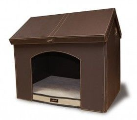 Portable Indoor Dog House (Medium Brown)