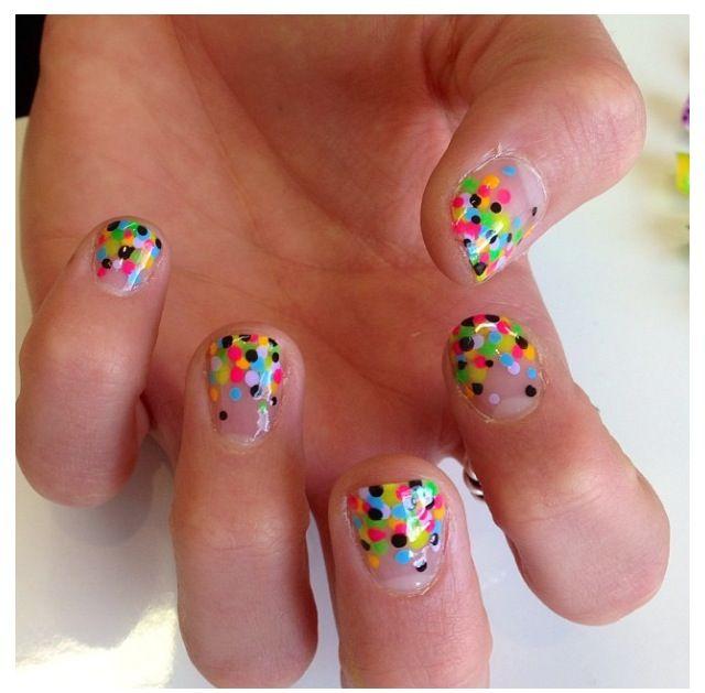 Confetti Iscream nails