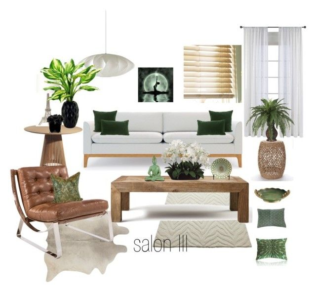 salon III by a-filipczak on Polyvore featuring interior, interiors, interior design, dom, home decor, interior decorating, Tryst, Rove Concepts, Flamant and Sonoma life + style