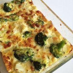 Broccoli och blomkålsgratäng med ädelost