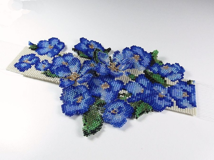 """""""Forget-Me-Not"""" Cuff by Erin Simonetti"""