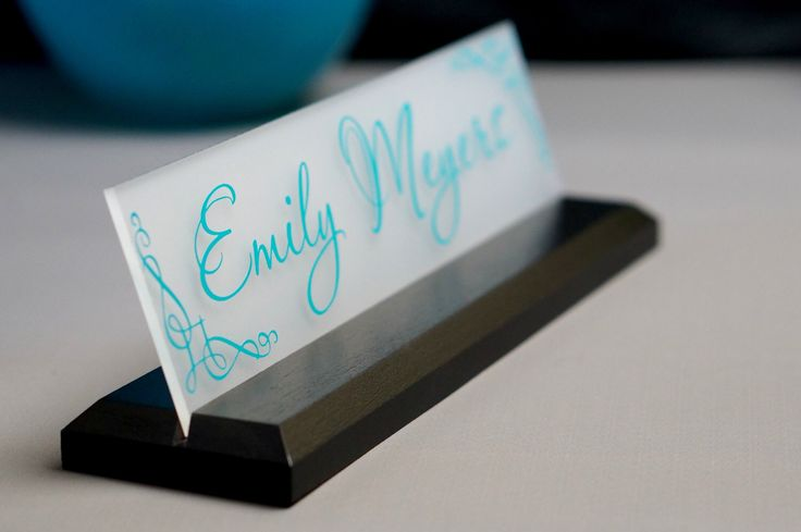 CoWorker Gift Desk NamePlate Personalized Professional Office Gift 10 x 2.5 by GaroSigns on Etsy https://www.etsy.com/listing/125156272/coworker-gift-desk-nameplate