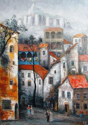 Artist Vakhtang Martiashvili, Georgia, Old Tbilisi