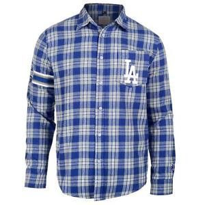 Los Angeles Dodgers Wordmark #LongSleeve Flannel #Shirt by Klew