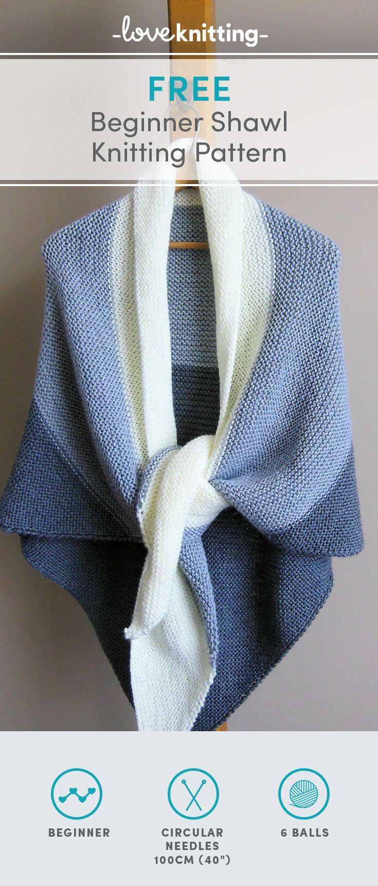 Free Shawl Knitting Pattern for beginners