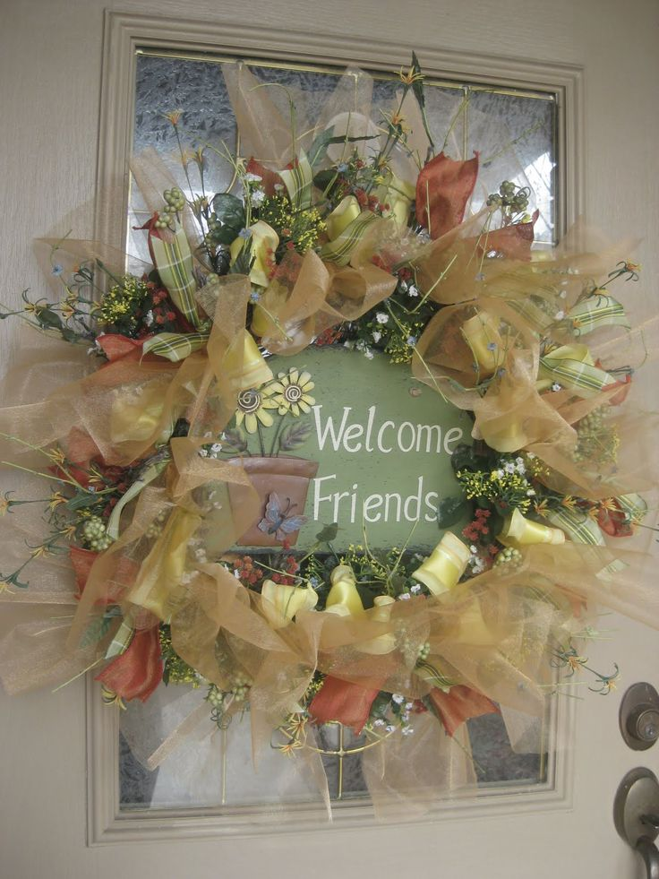 Kristen's Creations: More Of Your Beautiful Mesh Wreaths!