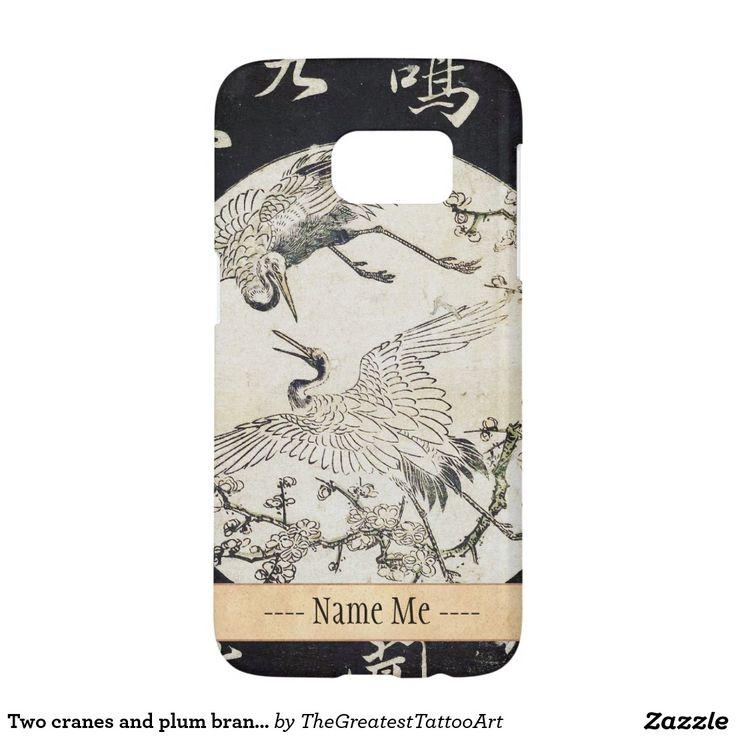 Two cranes and plum branch Katsukawa SHunsho Samsung Galaxy S7 Case