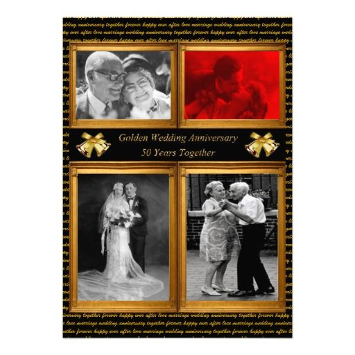 50 Years Golden Wedding Anniversary Party Photo Personalized Announcement.  $1.57