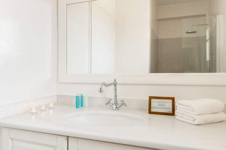 Stagones Private Villas....The Minimalist Cycladic AllWhite Master Bathroom Details...