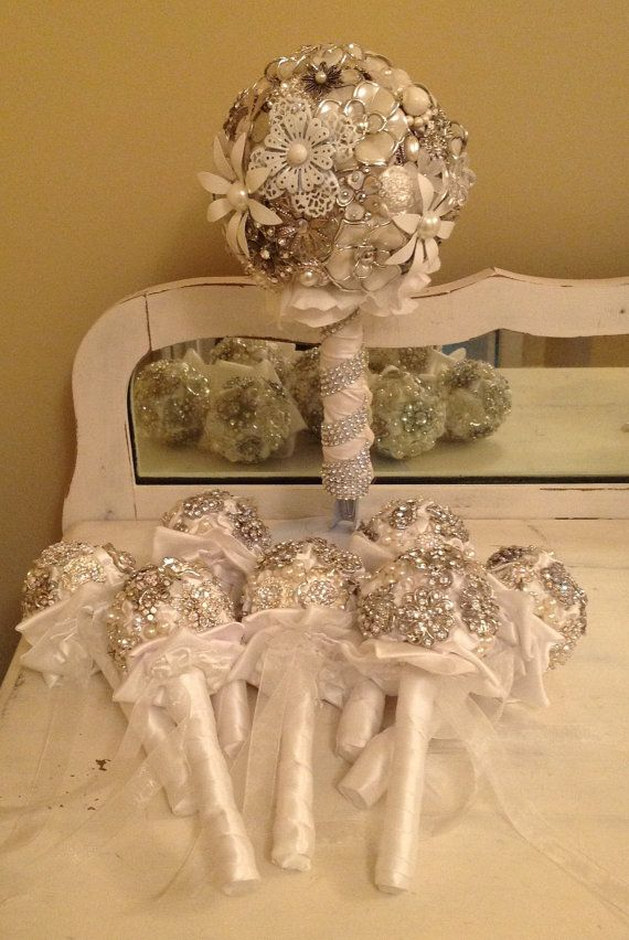 Custom Bridesmaid Brooch Bouquets Boutonnieres & by TheFlowerLover, $90.00