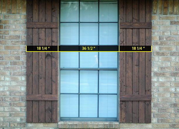 17 best images about ideas to fix the front of my ugly for Make your own shutters