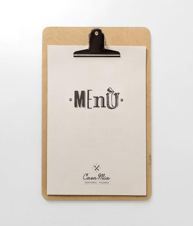 Casa Mia // Una nuova brand identity per la Trattoria Casa Mia di Polignano a mare. #graphic #design // more on www.idemdesign.it