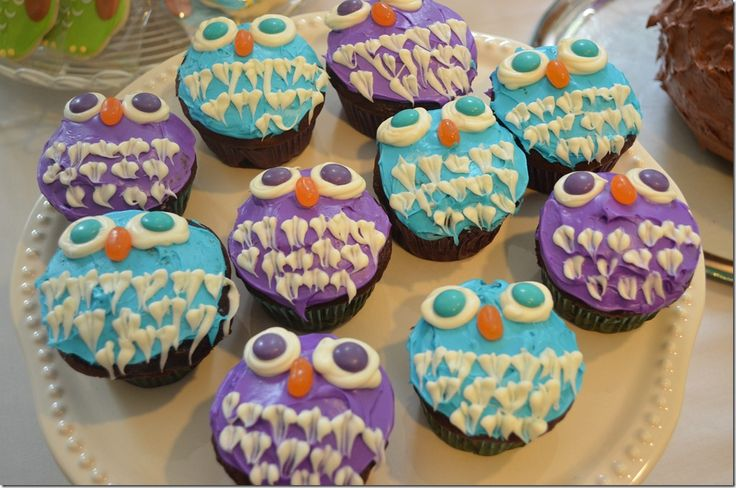 "Owl Cupcakes!  my kids love the book ""owl babies"" with sarah, percy and bill; and now we can make them!!!"