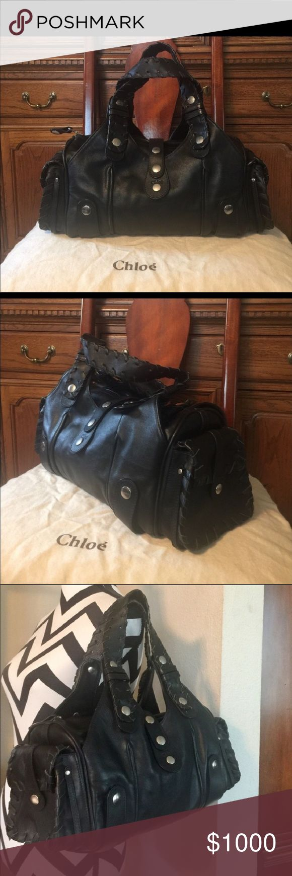 Black leather chloe Silverado bag Brand new black..chloe Silverado bag perfect brand new condition! Black leather soft!! No scratches!! Looks like tags were literally just taken off!! Trade value $1500 Bags Shoulder Bags