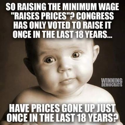 Cost of living hasn't stalled...minimum Wages need to rise accordingly!: