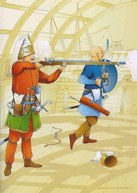 """""""Jenízaros, Batalla de Lepanto, 7 de octubre de 1571"""""""