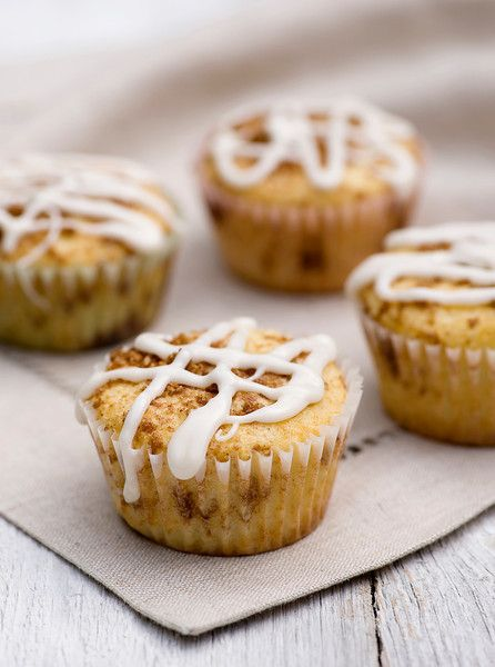 Middle Of The Cinnamon Roll Muffins. Saving us all time by getting ...