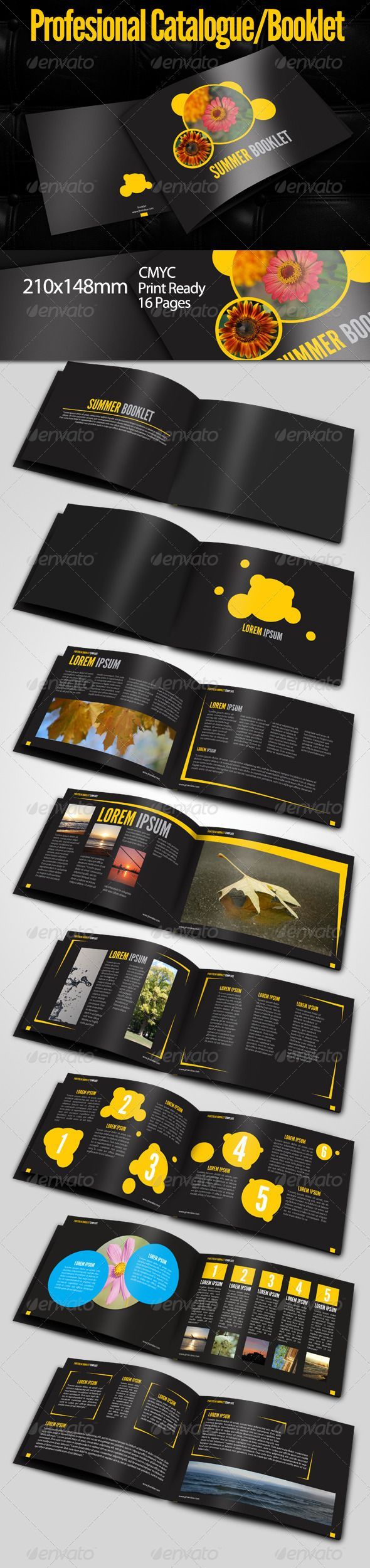 Summer Booklet Template - Corporate Brochures
