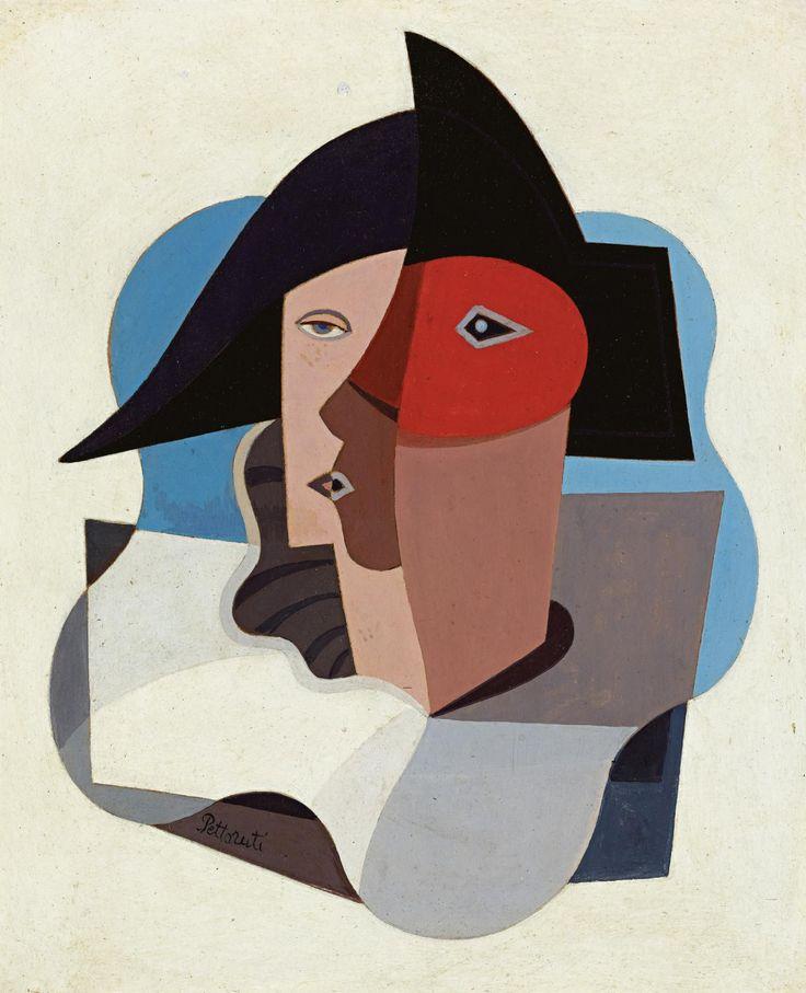 'Cabeza de Arlequín' (c.1940) by Emilio Pettoruti