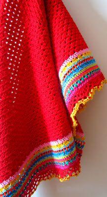 Solid coloured blanket, colourful blanket.