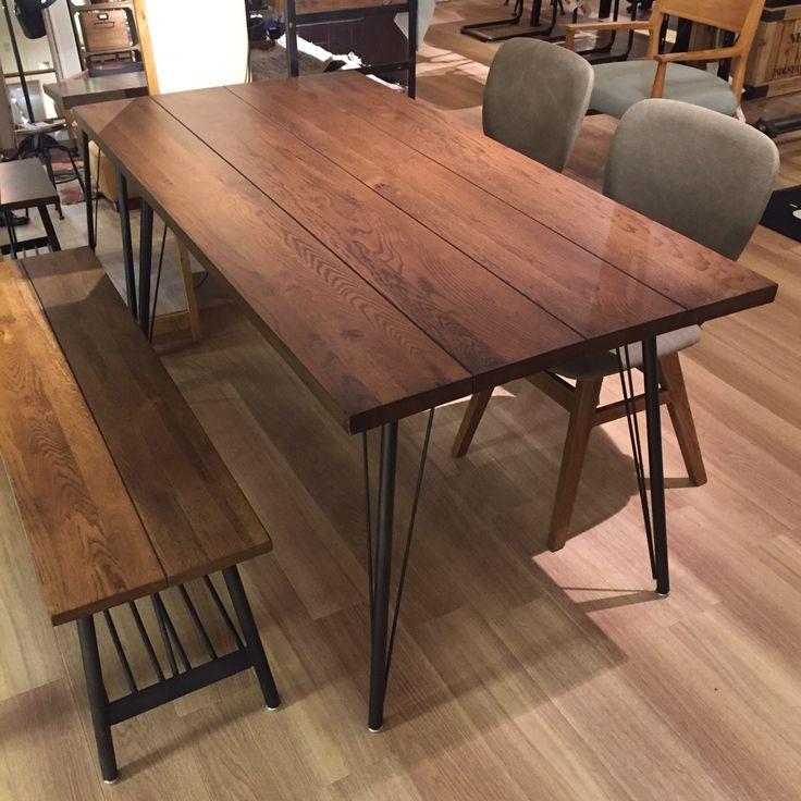 フランク3 ダイニングテーブル [ オーク無垢材ダークブラウン色 ] FRANKⅢ DINING TABLE(18259) - ノットアンティークスのテーブル | おしゃれ家具、インテリア通販のリグナ