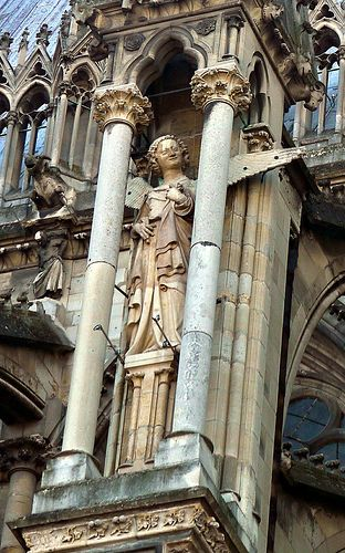 Smiling #Angel on the cathédrale de #Reims , Marne. Champagne-Ardennes. France