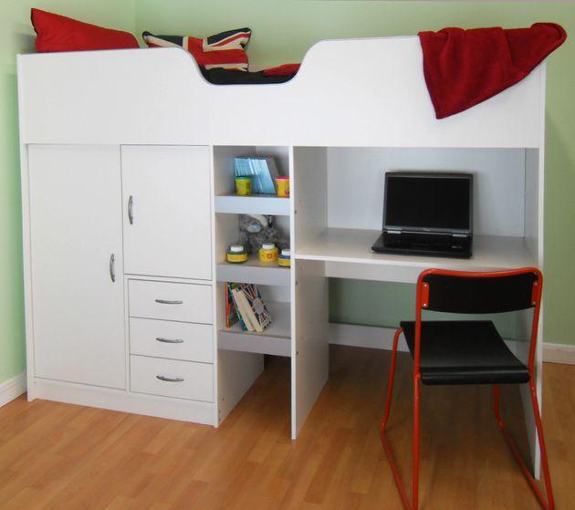 Cambridge High Sleeper Cabin Childrens Wardrobe Storage