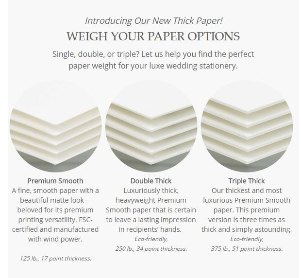 Weigh Your Paper Options Now Offering Single Double And Triple Thickness For Wedding Invitations Unique Wedding Invitations Traditional Wedding Invitations