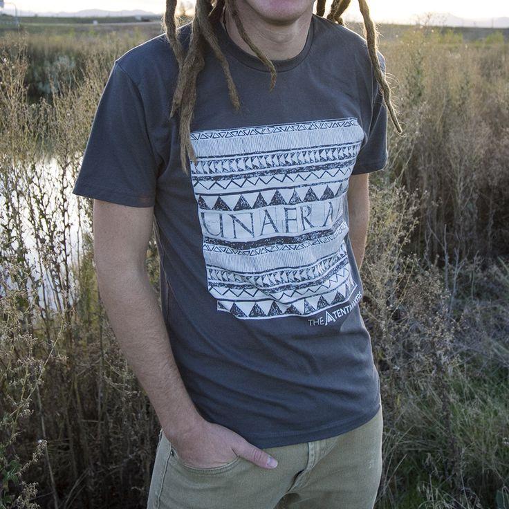Unafraid Mens graphic tee - The Tentmakers. Tribal Print.