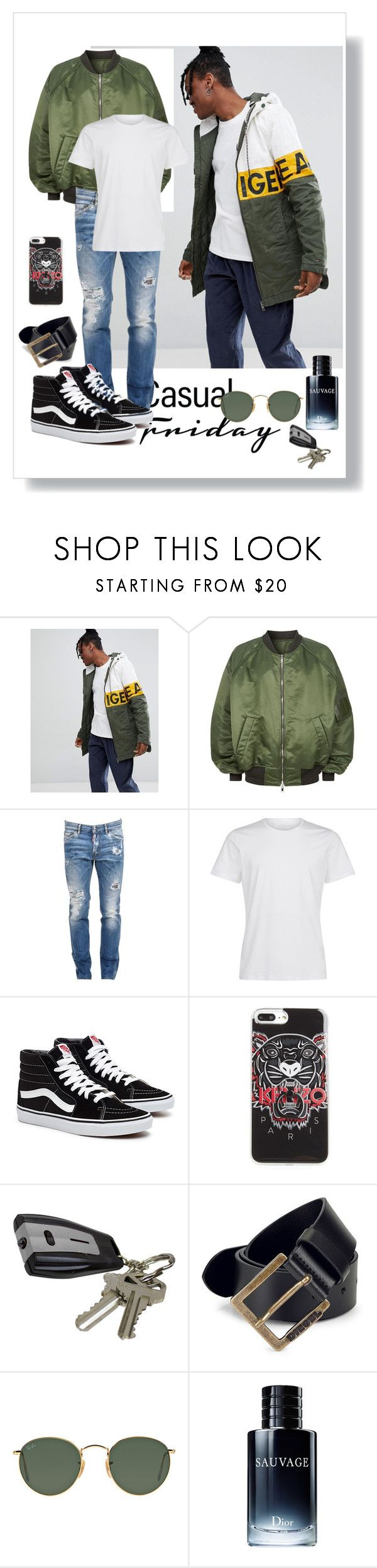 """Casual man"" by gloriouspower ❤ liked on Polyvore featuring Hilfiger Denim, Juun.j, Dsquared2, La Perla, Kenzo, J.B. Nifty, Diesel, Ray-Ban, John Lewis and men's fashion"